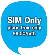 SIM Only plans from only £9.50p/month